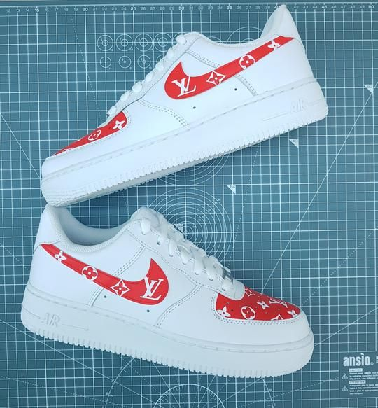 Nike Air Force 1's - Louis Vuitton (Red