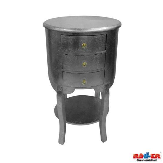 Ausgefallene Kommode in runder Form ausgestattet mit drei Schubladen - Maße: B/H/T ca. 40/85/30 cm  Zum Online-Shop: http://www.roller.de/kommode-12696/009000425000//