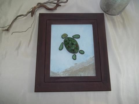 JAMES THE SEA TURTLE ~ Original Beach Art by Amy Lauria