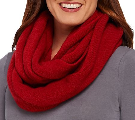 Loop of luxury. Add a decidedly soft touch to your style when you wear this lovely Layers by Lizden Marvelush waffle knit infinity scarf. Whether you're wearing it indoors or out, you'll love the cushy-as-cashmere Marvelush fabric in a waffle knit texture that's totally on trend. From Layers by Lizden. QVC.com