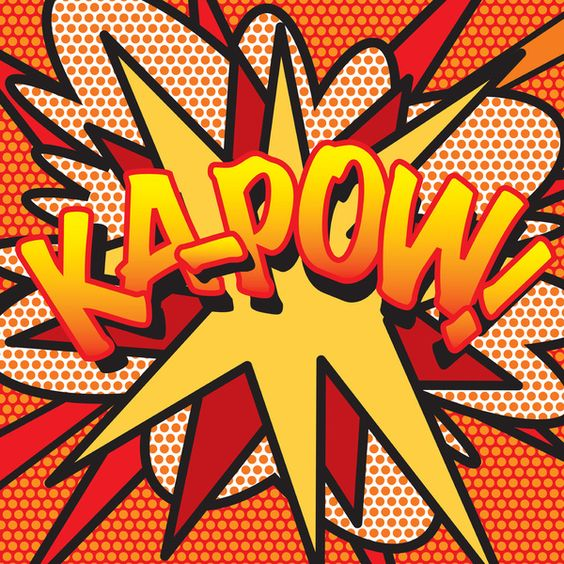 Comic Book KA-POW! Art Print by The Image Zone