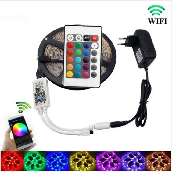 Enjoy Smart Life Helps Connecting Your Led Light Strips To A Wifi Network With Magic Home Pro App Con Rgb Led Strip Lights Led Strip Lighting Strip Lighting