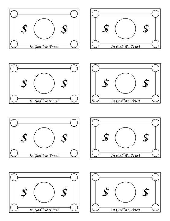 Printable Blank Money Templates Reward system & family general store ...