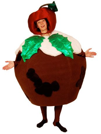Deluxe christmas pudding angels fancy dress costumes christmas