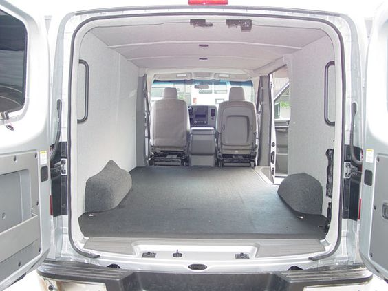 Nissan van interior view luann paneling cover foam polyolefindurable material office vehicles for Commercial van interior accessories