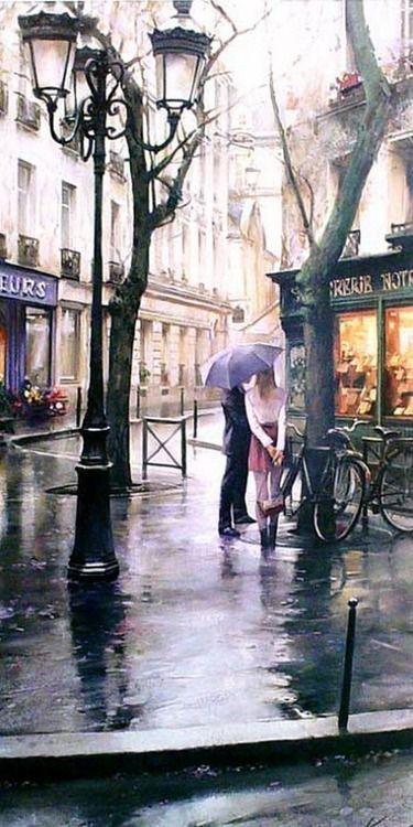 Mona Mina. Paris rain: