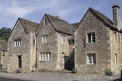 Três casas medievais em Lacock