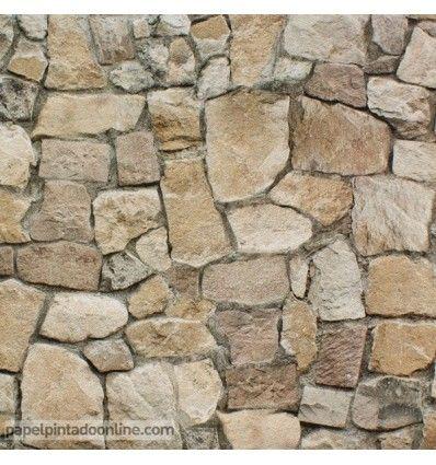 Papel pintado piedras en venta for Papel piedra pared