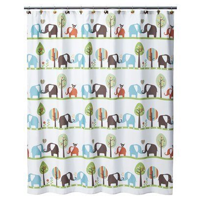 Circo® Elephant Shower Curtain | Baby: Elephant Nursery ...