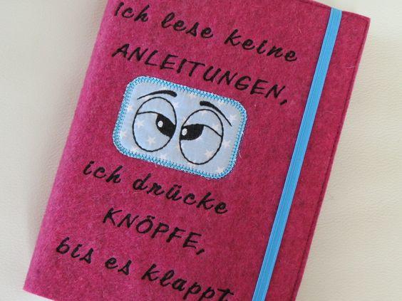 Kalender / Notizbuch ♥ Knöpfe drücken ♥ von 1000und2Naehte auf DaWanda.com