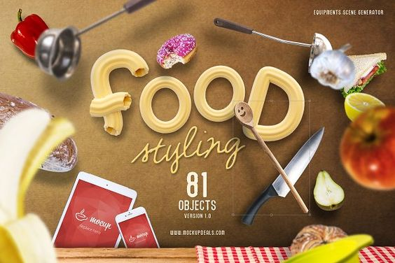 Food Styling PSD Scene Generator - Product Mockups