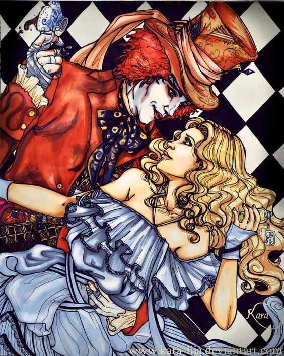 mad hatter and alice relationship