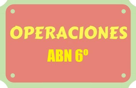 Operaciones sexto