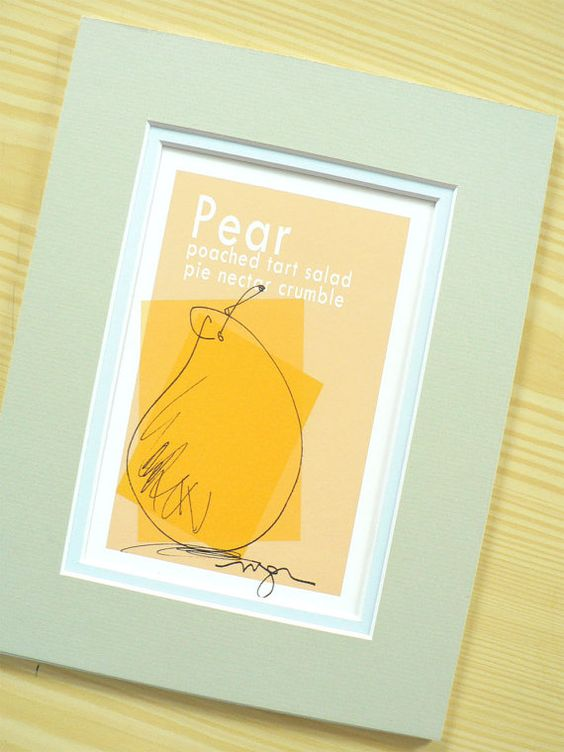 Cook's Colorful Pear Kitchen Print ready for by MacGregorArt, $15.00