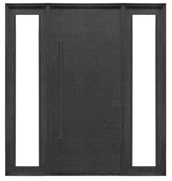 Puerta de hierro moderna con manij n exterior del hierro for Disenos de puertas modernas