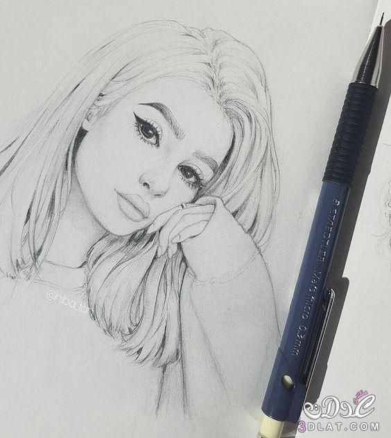 صور بنات مرسومة بالقلم الرصاص روعه رسومات بالرصاص Pencil Portrait Art Drawings Sketches