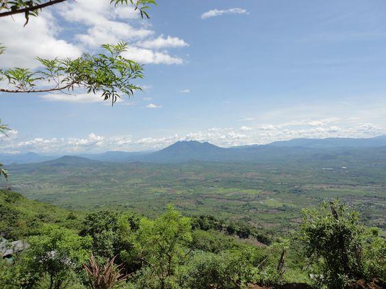 vista desde el volcan de Ipala, Guatemala
