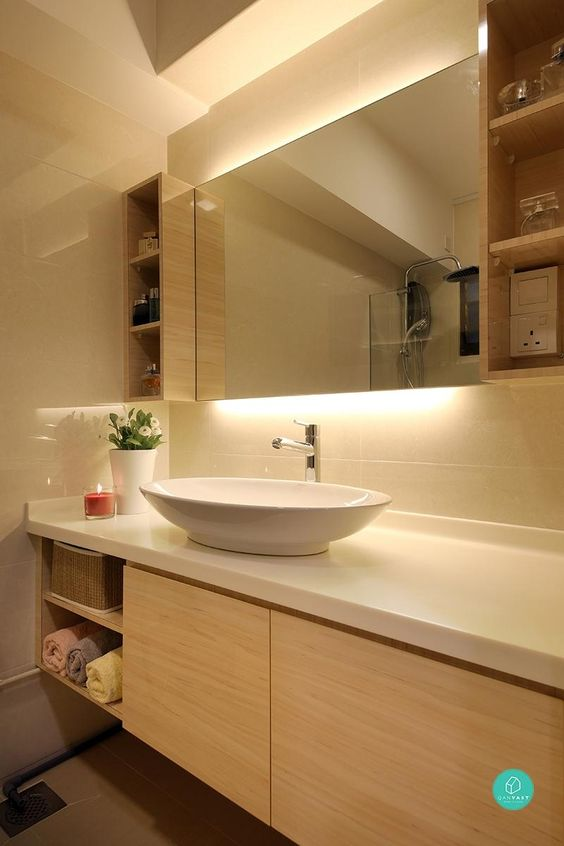 Magnificent 9 Hdb Bathroom Transformations For Every Budget To Be Home Largest Home Design Picture Inspirations Pitcheantrous
