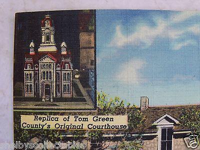 Texas-Fort-Concho-Museum-San-Angelo-TX-Curteich-Unused-Linen-Postcard-PC-TEX