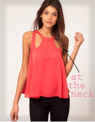 cutouts at the neckline are so chic {love this tank}