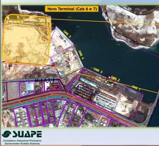 Terminal de Containers de Suape custara R$ 650mi - Veja localizacao
