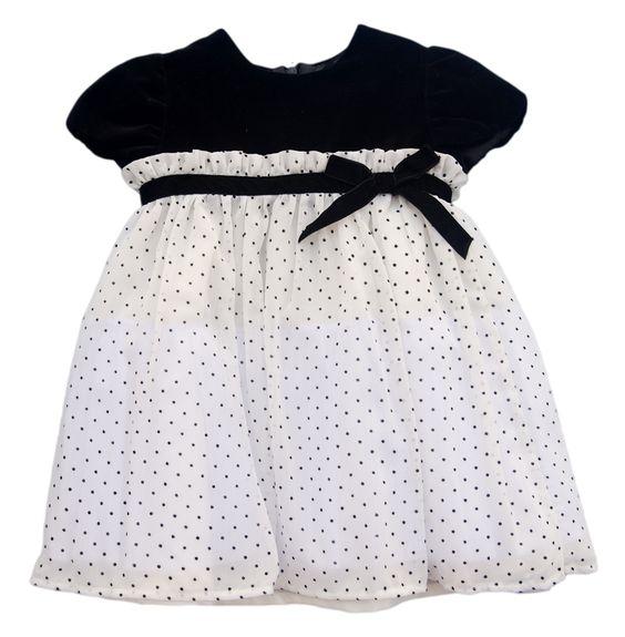 Luli & Me Polka Dot Dress - Toddler Girl