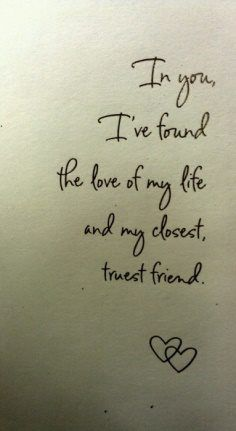 Fall in love with your best friend.