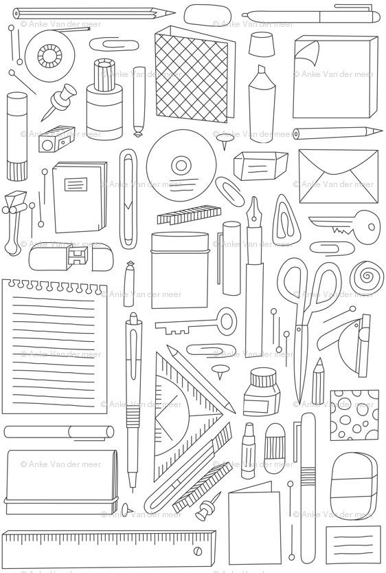 office supplies fabric for curtains -- when I get to make my dream office some day :)