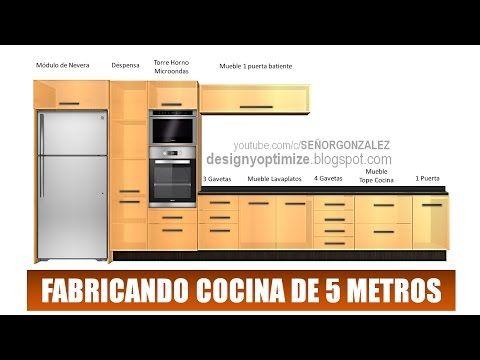 Diseno De Muebles Madera Fabricando Cocina De 5 Metros Planos Planos De Muebles Diseno De Cocina Diseno De Cocina Comedor