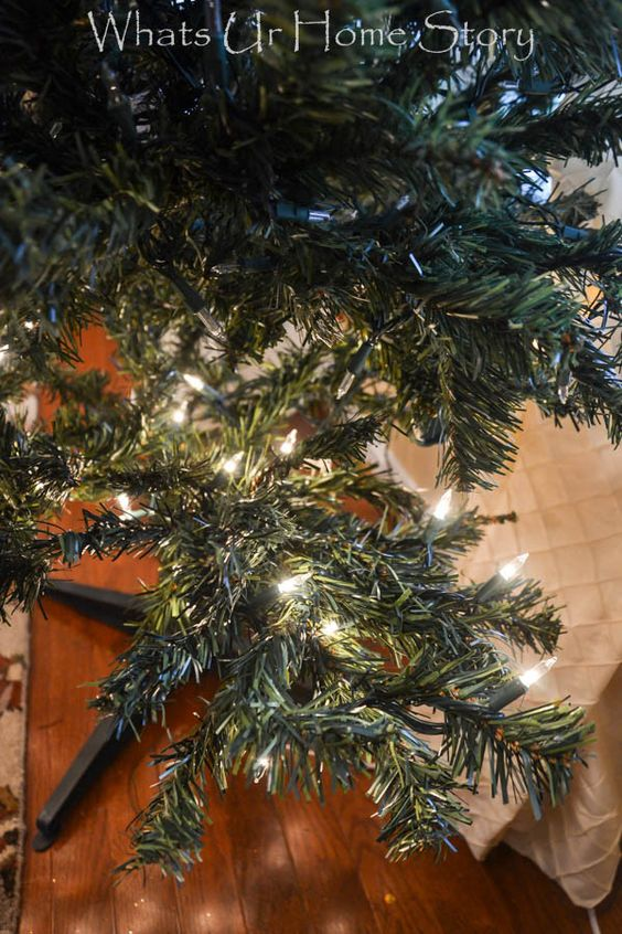 Christmas trees how to hang and string lights on pinterest for How to hang string lights on trees