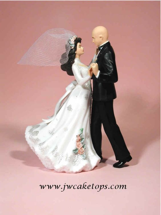 bald groom and bride wedding cake topper cake toppers bald and cake on 11050