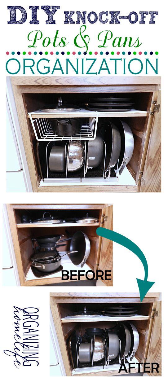 Diy Knock Off Shelves: DIY Knock-Off Organization For Pots & Pans