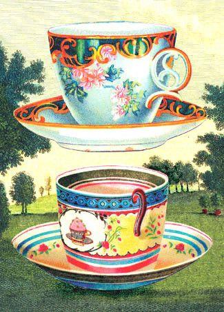 Cartolina - Cartolina card - Tea Cups CC203