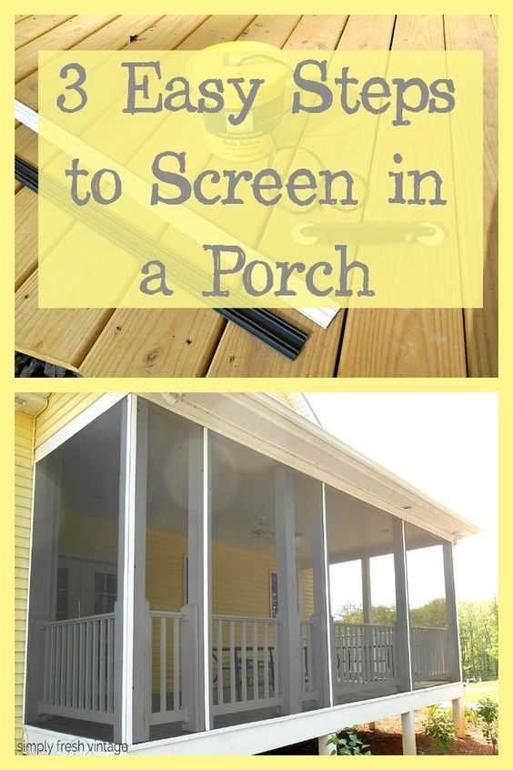 Building A Porch Screened In Diy, How To Screen In A Patio Porch
