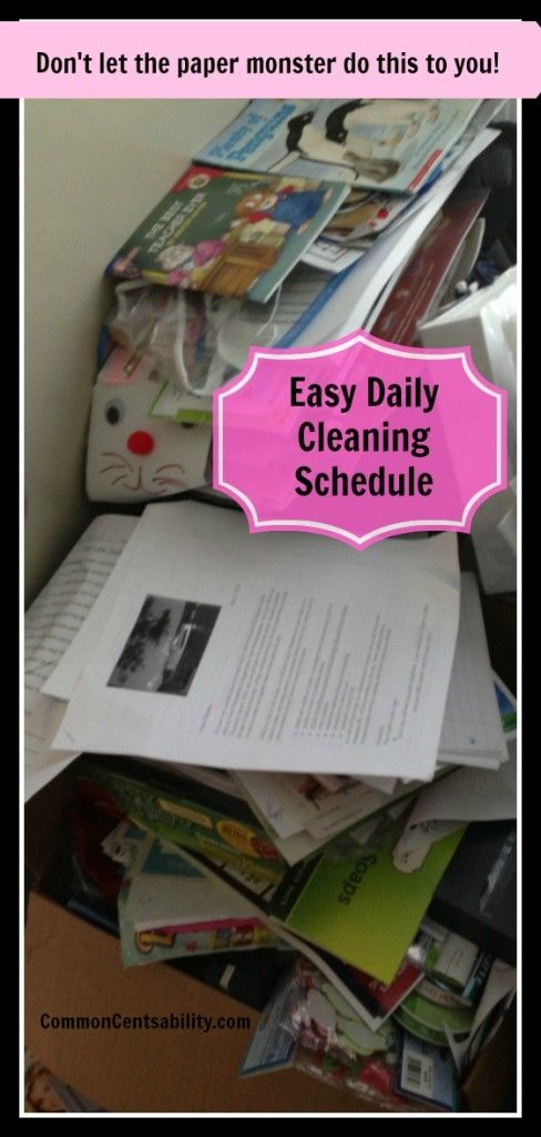 Easy Daily Cleaning Schedule