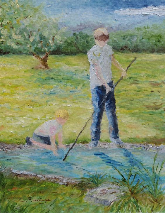 The Kenney Boys Painting  - The Kenney Boys Fine Art Print