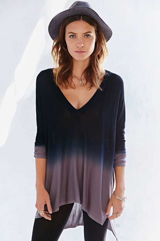 Pins And Needles Dip-Dye Tent Top Size Small #UrbanOutfitters
