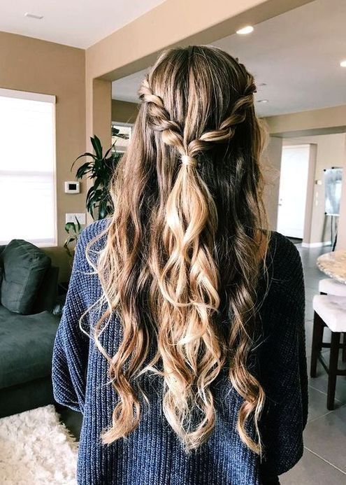 Easy Hairstyle Girls Girls Easy Hairstyle Cute Hairstyle Girls Quick Hairstyl Hair Styles Prom Hairstyles For Long Hair Hair Styles Thick Hair Styles