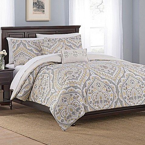 Floral Damask 5 Piece Full Queen Comforter Set In Gold Bed Linens Luxury Beautiful Bedding Linens Luxury Bedding Master Bedroom
