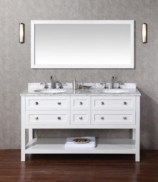 Marla 60 Inch Double Sink Bathroom Vanity With Mirror Double Sink Bathroom Bathroom Sink Vanity Double Sink Vanity
