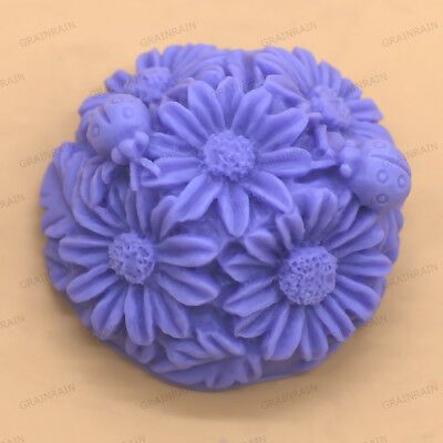 Small Flower Mold DIY Silicone Soap Mold Candle Molds Resin Wax Round Mold