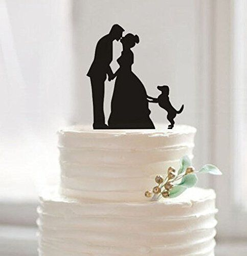 Funny Wedding Cake Toppers, Custom Wedding Cake Topper, Bride and Groom Cake Topper, Pet Dog Cake Topper, Unique Cake Topper.: