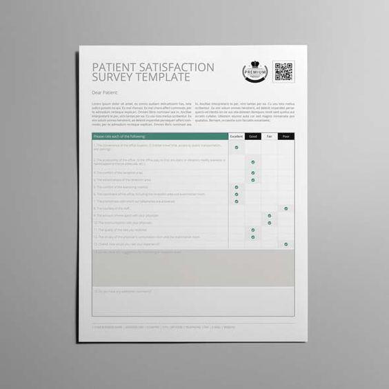 Patient Satisfaction Survey Template Us Letter  Cmyk  Print
