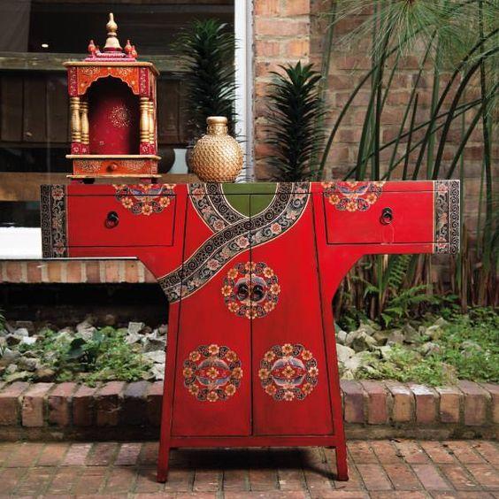 Mueble chino rojo by sarria home. china. kimono. geisha. mueble ...