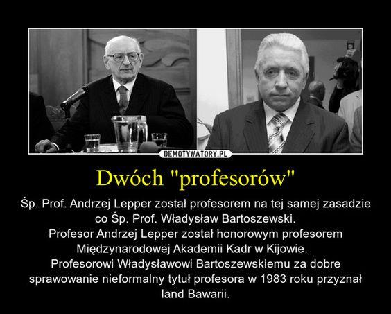 """Dwóch """"profesorów"""""""