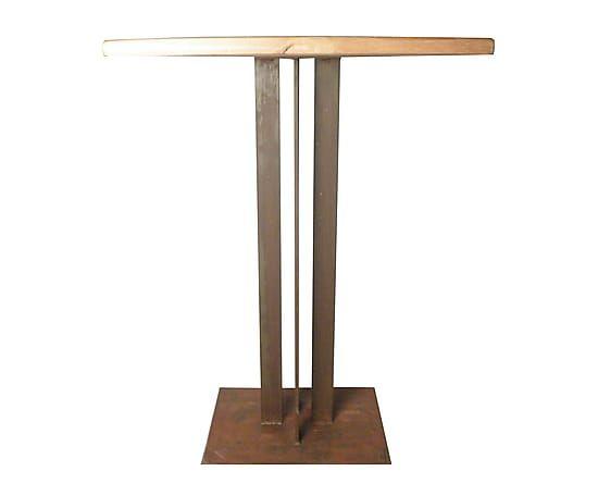 Mesa alta de madera de pino y acero proyecto mesas para for Mesa alta comedor
