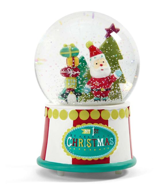 My 1st Christmas - Musical Snow Globe - Baby's First Christmas ...