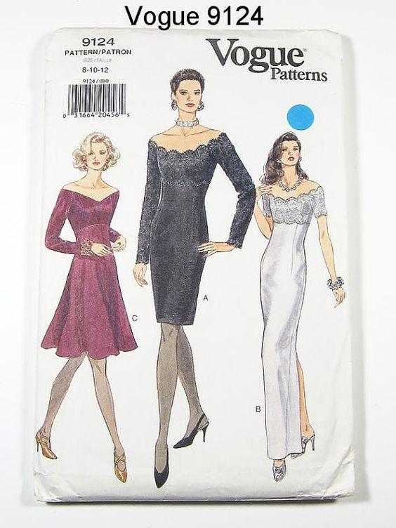90s cocktail dress patterns