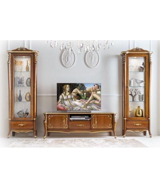 arredamento parete soggiorno. mobile porta tv e vetrine di lusso ... - Soggiorno Classico Di Lusso 2