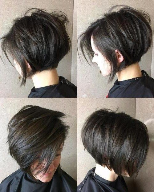 25 Cutest Short Layered Hairstyles For Messy Hair Wass Sell Thick Hair Styles Short Hair With Layers Short Bob Hairstyles